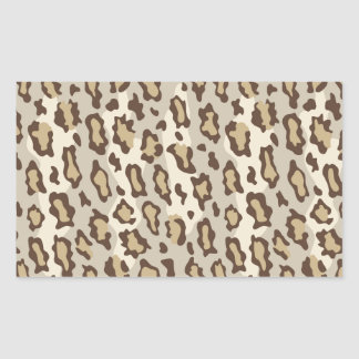 Lepard Spots in Natural Colors. Rectangular Sticker