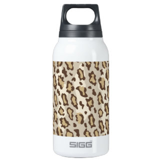 Lepard Spots in Natural Colors. Thermos Water Bottle