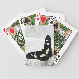 lepidopterist,butterfly,black,white,caladium,leaf, bicycle playing cards