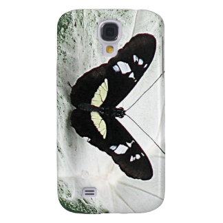 lepidopterist,butterfly,black,white,caladium,leaf, samsung s4 case