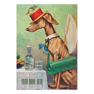Lepidopterist / Dog Sitter Vintage Business Card