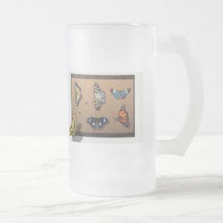 Lepidopterist - mi colección de la mariposa jarra de cerveza esmerilada