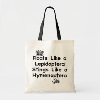 Lepidópteros de los flotadores bolsas
