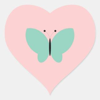 Lepidópteros del insecto del insecto de las pegatina en forma de corazón