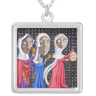 L'epoca di Federico II - Donne en processione Collar Plateado