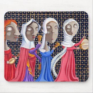 L'epoca di Federico II - Donne in processione Mouse Pad