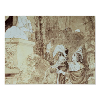 Leporello serenading Elvira en el modo Juan Póster