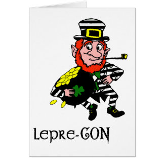 Lepre-con Leprechaun Stealing Pot of Gold Card