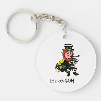 Lepre-con Leprechaun Stealing Pot of Gold Keychain