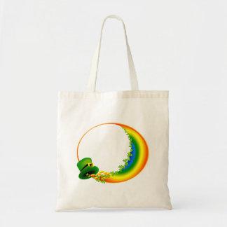 leprecaun hat clovers circle rainbow.png tote bag