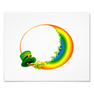 leprecaun hat clovers circle rainbow.png art photo