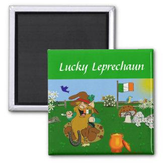 Leprechaun 2 Inch Square Magnet