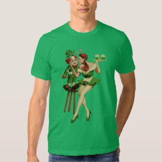 Leprechaun afortunado camisas