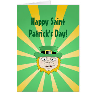 Leprechaun afortunado - el día feliz de San Tarjeta De Felicitación