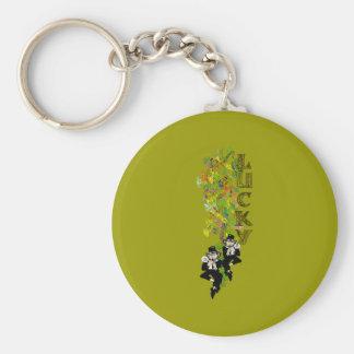 Leprechaun afortunado llavero redondo tipo pin