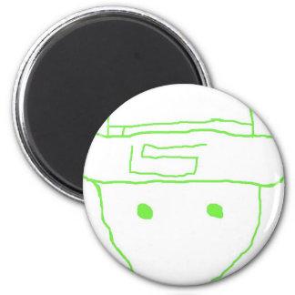 Leprechaun Amateur Sketch 2 Inch Round Magnet