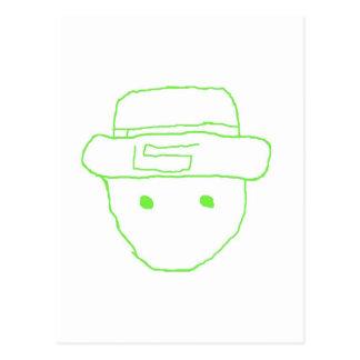 Leprechaun Amateur Sketch Postcard