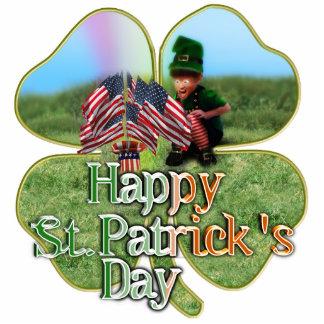 Leprechaun americano irlandés fotoescultura vertical