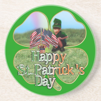 Leprechaun americano irlandés posavasos cerveza