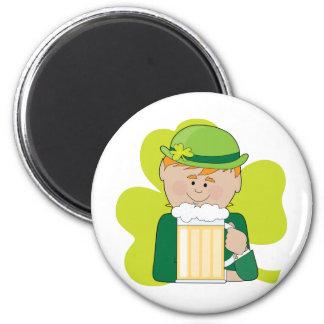 Leprechaun And Beer Magnet