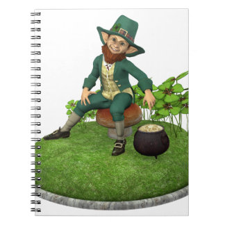 Leprechaun and His Gold Notebook