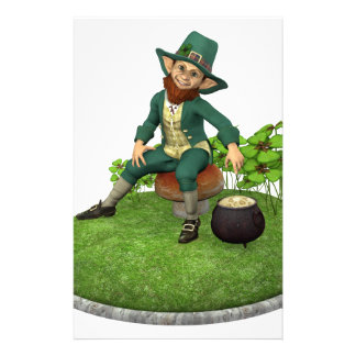 Leprechaun and His Gold Stationery