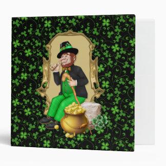 Leprechaun and Shamrocks Vinyl Binders