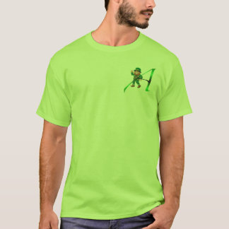 """Leprechaun Atheist """"A"""" apparel and gifts T-Shirt"""