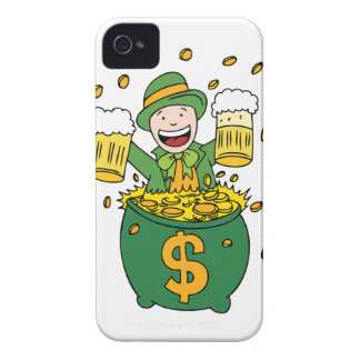 Leprechaun Beer and Pot of Gold iPhone 4 Case