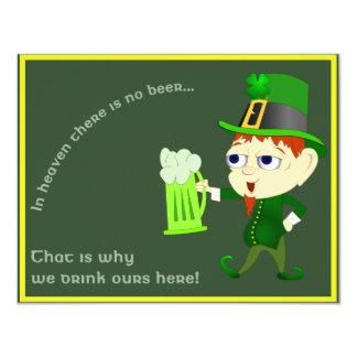 Leprechaun Beer St. Patrick's Day Party Invitation