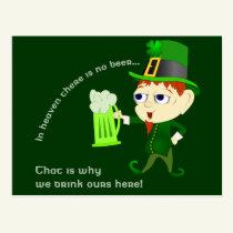 Leprechaun Beer St. Patrick's Day Postcard