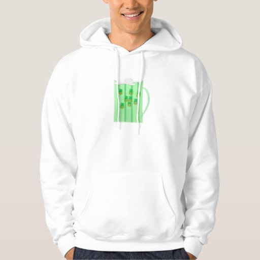 Leprechaun Bubbles in Beer Mug Hoodie
