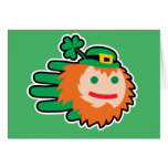 Hand shaped Leprechaun card