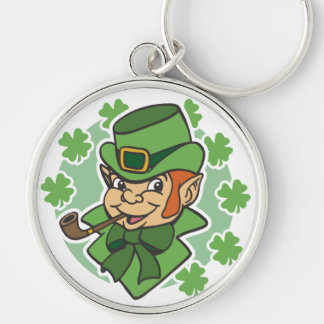 Leprechaun Cartoon St. Patrick's Day Keychain
