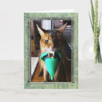 Leprechaun Cat St. Patrick's Day Greeting Card