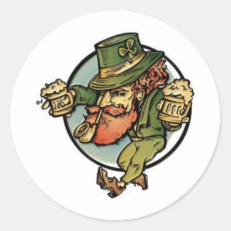 Leprechaun Classic Round Sticker