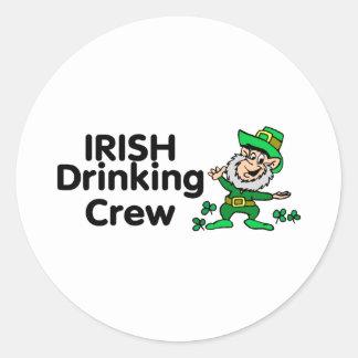 Leprechaun de consumición irlandés del equipo pegatinas