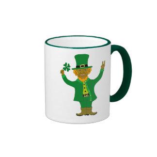 Leprechaun de la victoria taza de café