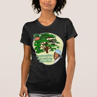 Leprechaun del árbol remeras