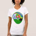 Leprechaun del chica del Redhead del día del St Pa Camisetas