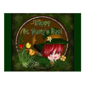 Leprechaun del día de St Patrick Tarjetas Postales