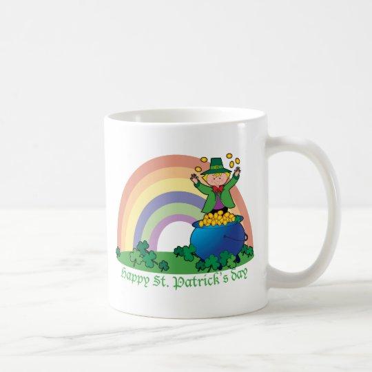 Leprechaun del oro del arco iris taza de café