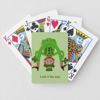 Leprechaun divertido baraja de cartas