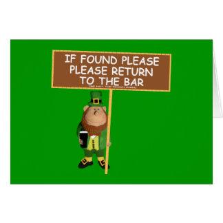 Leprechaun divertido tarjeta de felicitación