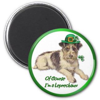 Leprechaun Dog 2 Inch Round Magnet