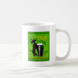 Leprechaun Doxie Classic White Coffee Mug