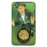 Leprechaun emocionado con la mina de oro iPod touch cárcasas