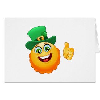 leprechaun emoji card
