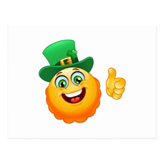 leprechaun emoji postcard