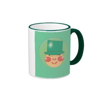 Leprechaun en una burbuja taza de dos colores